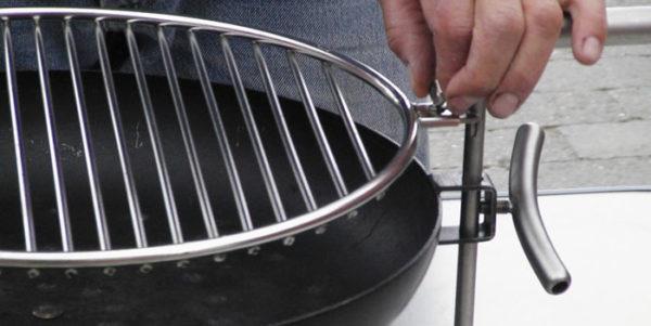 Nielsen tafelbarbecue detail