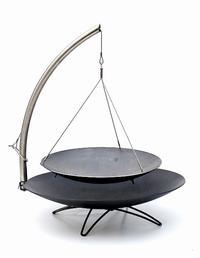Vuurschotel STAR 800 mm Classic zwart + stalen wok